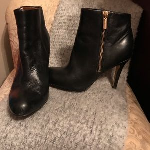 Banana Republic black leather booties size 6
